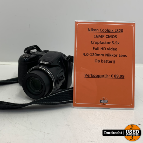 Nikon Coolpix L820 camera | Op batterij | Met garantie