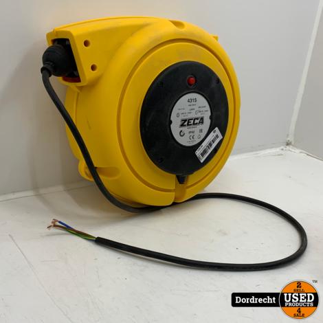 Zeca 4315 Kabelveerhaspel 14 + 1 mtr. 230 Volt | Nieuw | Met garantie