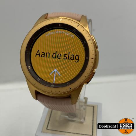 Samsung Galaxy watch 42mm (SM-R810)   In doos   Extra bandje   Met garantie