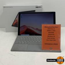Microsoft Surface Pro 7 Intel Core i5 256GB SSD 8GB RAM   Met cover   In doos   Met originele factuur