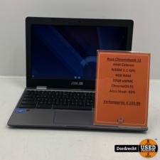 Asus Chromebook 12    Intel Celeron N3350 1.1 GHz 4GB RAM 32GB eMMC ChromeOS 91   Met garantie