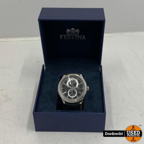 Festina Retro Horloge F16573 Zwart | In doos | Met garantie