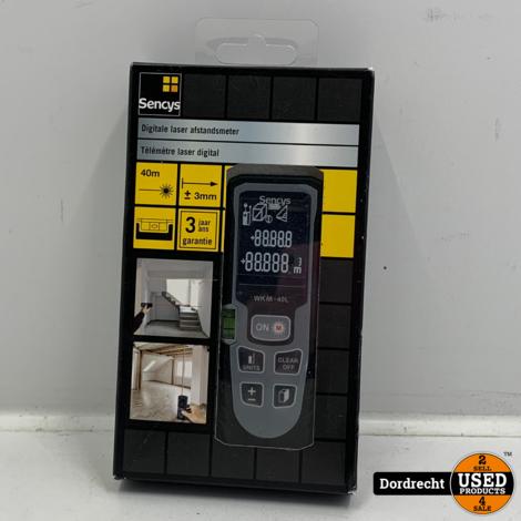 Sencys laser afstandsmeter 40m | In doos | Met garantie