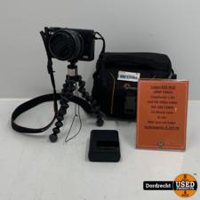 Canon EOS M10 + 15-45mm lens   Met accu en lader   In tas   Met garantie