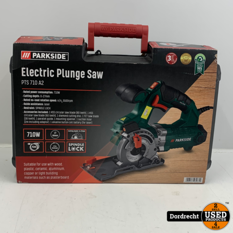 Parkside Precisiecirkelzaag PTS 710 A2   Nieuw in doos   Met garantie