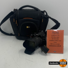 Nikon D5000 Camera | Met 18-200mm Nikkor lens | Met accu en lader | In tas | Met garantie