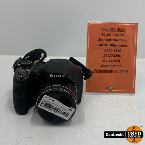 Sony DSC-H300 Camera   Met garantie