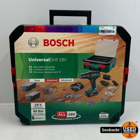 Bosch UniversalDrill 18V accuboormachine   Nieuw in kist   Met garantie