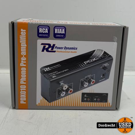 Power Dynamics PDX010 phono voorversterker   Nieuw in doos   Met garantie
