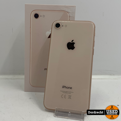 iPhone 8 64GB roze   Schade op scherm   In doos   Met garantie