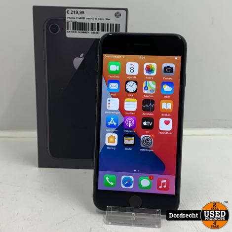 iPhone 8 64GB zwart | In doos | Met garantie