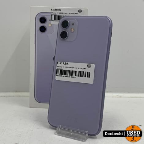 iPhone 11 128GB Paars   In doos   Met garantie