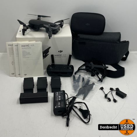 DJI Mavic Air Fly More Drone Zwart | Compleet in doos | Met garantie