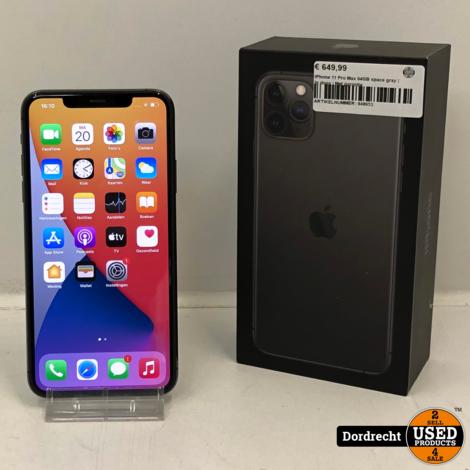 iPhone 11 Pro Max 64GB space gray | In doos | Met garantie