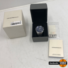 Emporio Armani AR-5860 horloge | Extra schakels | In doos | Met garantie