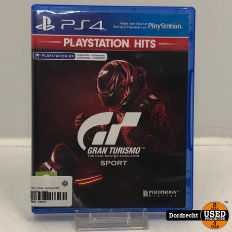 Playstation 4 spel   Gran turismo the real driving simulator sport