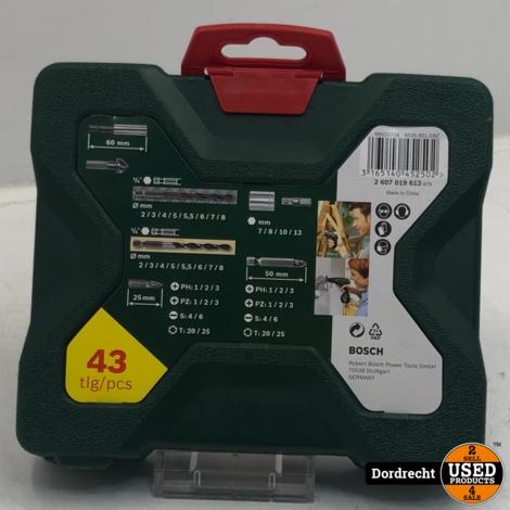 Bosch Boren- en schroefbitset X-line 43-delig   Nieuw   Met garantie