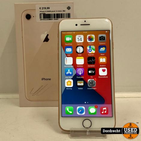 iPhone 8 256GB goud   In doos   Met garantie