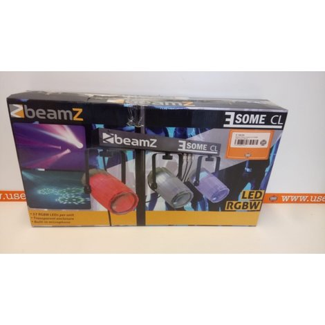 BeamZ 3-Some Lichtset 3x 57 RGBW LED's Clear ll Nieuw