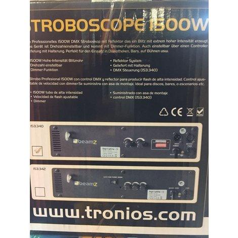 BeamZ Stroboscope 1500W DMX/CNTRL I ZGAN MET GARANTIE