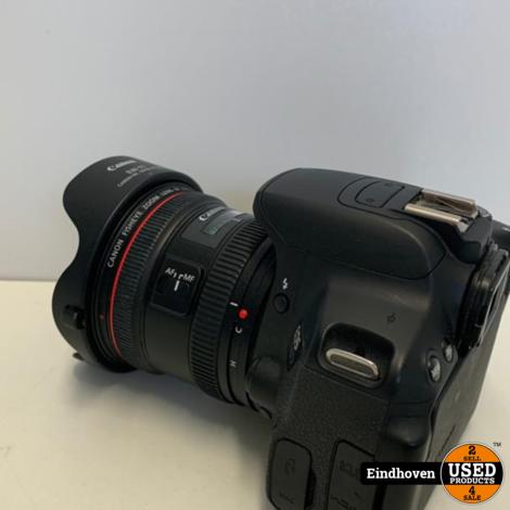 Canon EOS 650D met 8-15MM Fisheye en EW77 I NIEUWSTAAT MET GARANTIE