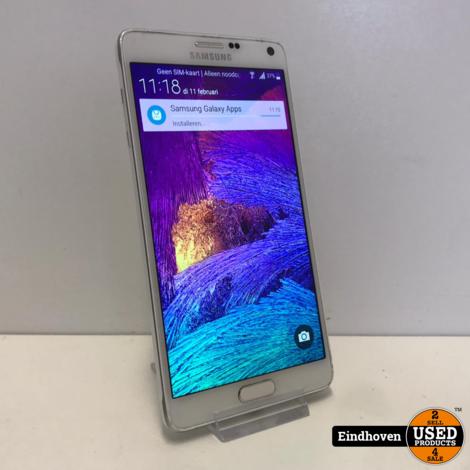 Samsung Note 4 32GB Wit I ZGAN MET GARANTIE