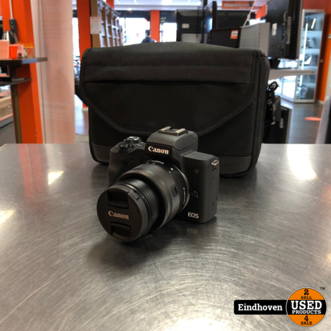 Canon EOS M50 + 15-45mm lens en bon van 13-09-2019