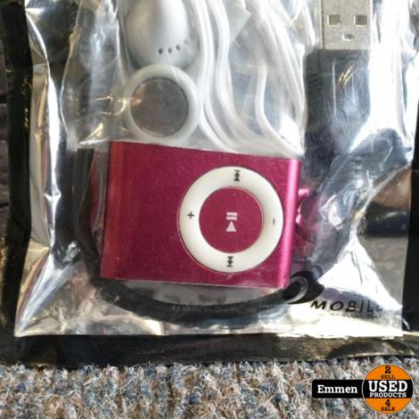 MP3 Speler Shuffle - Roze (Nieuw)