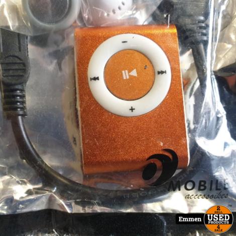 MP3 Speler Shuffle - Oranje (Nieuw)