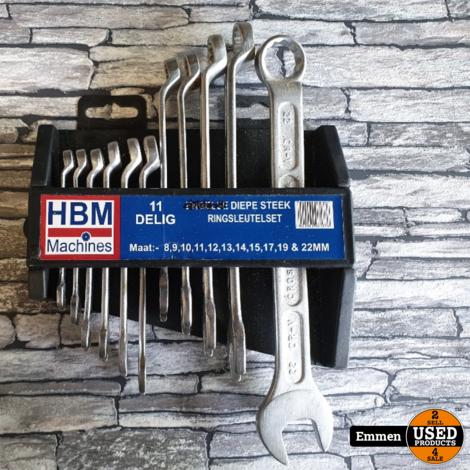 HBM 11 Delige Diepe Steek- en ringsleutelset (Nieuw)
