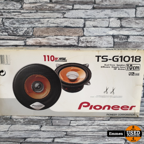 Pioneer TS-G1018 - Dual Cone Speakers