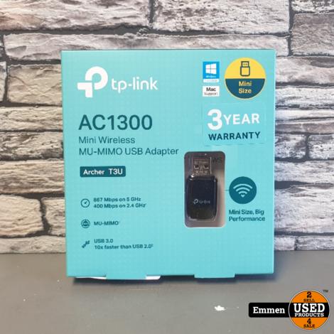 TP Link AC1300 - T3U Wireless USB Adapter (NIEUW)