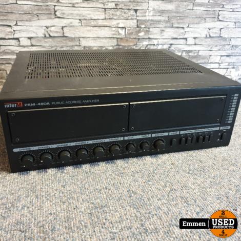 InterM PAM-480A Public Address Amplifier (Channel 6 zit los)