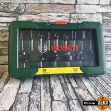Bosch 2607019469 - 15-delig Frezenset (Nieuw)