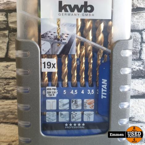 KWB 421820 Titan - 19-Delig Metaalborenset (Nieuw)