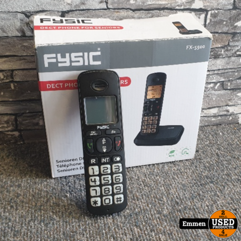 Fysic FX-5500 - Senioren DECT Telefoon (z.g.a.n.)