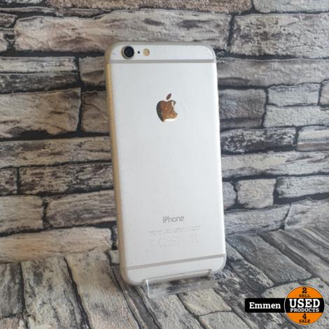 Apple iPhone 6 - 16 GB Wit - Batterijconditie: 91% - Barst en krasjes Display