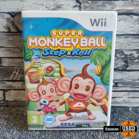 Wii - Super Monkey Ball Step and Roll