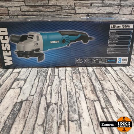 Wesco WS4716 - Haakse Slijper - 125mm