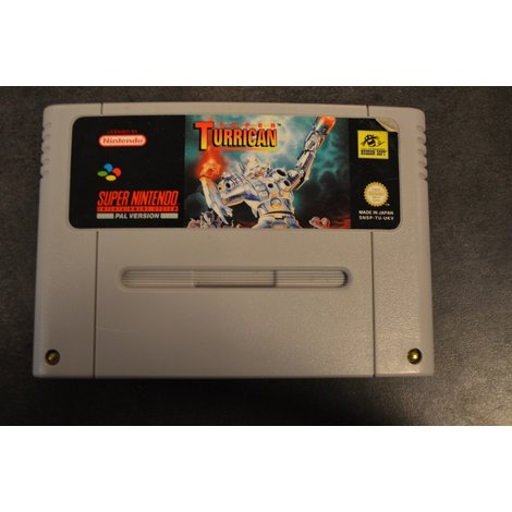 Snes game Turrican Losse cassette