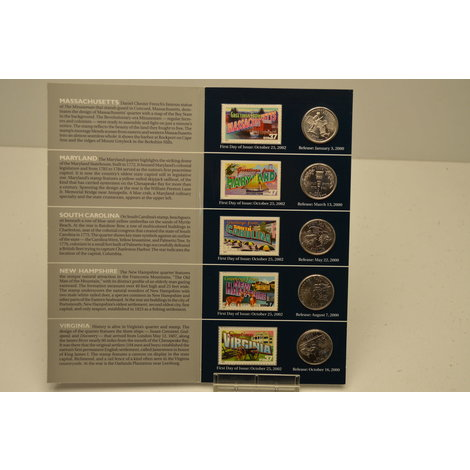 50 State Quarters Greetings From America Portfolio 2000