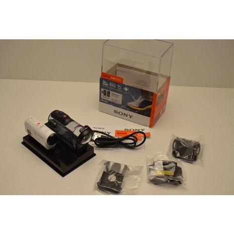 Sony HDR-AZ1 Action Cam Mini in doos met Spatwater bestendige behuizing en montagemateriaal