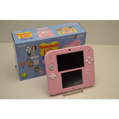 Black Friday Deal Nintendo 2DS Wit & Roze Tomodachi Life speciale editie - Als Nieuw & in Doos