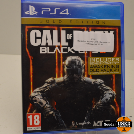 PS4 game C.o.D Black Ops III