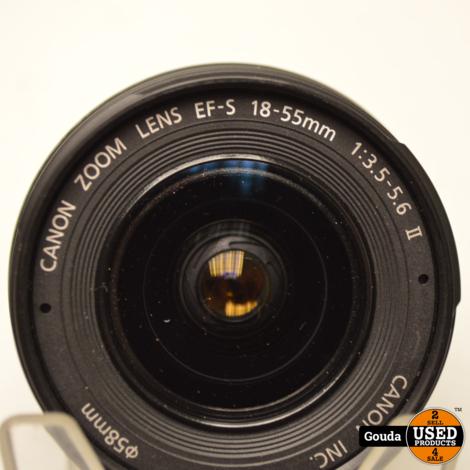 Canon EOS 350D met 18-55 mm EFS 1:3.5-5.6 II met 1 accu en oplader