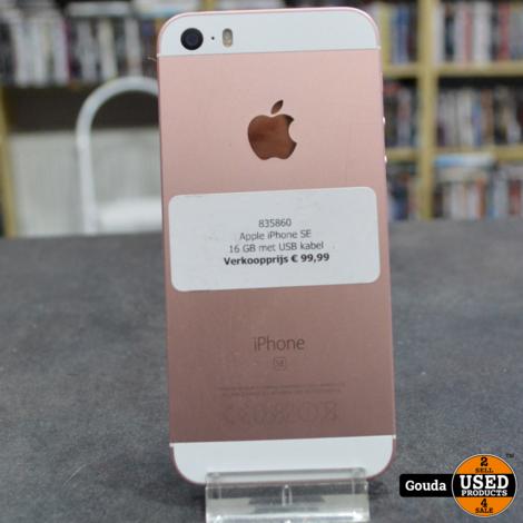 Apple iPhone SE 16GB  Rose/Gold met USB kabel *
