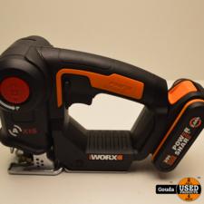 Worx Worx-accumultizaag Axis 20 V WX550.9 met 1 accu en oplader in NIEUW staat