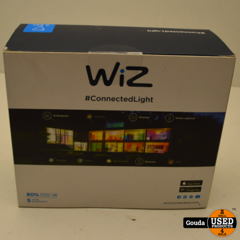 WiZ colours A E27 - 2-pack - 806lm - with WiZmote NIEUW in verpakking