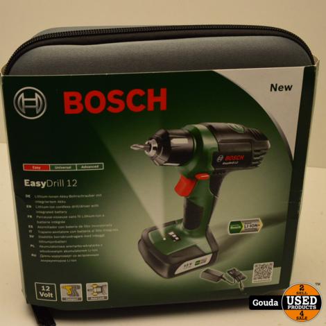 Bosch Easydrill 12 Accuboor Nieuw in foudraal met oplader