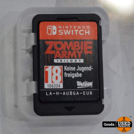 Nintendo Switch game Zombie Army Trilogie